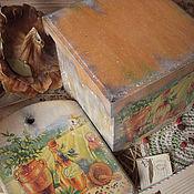 """Для дома и интерьера ручной работы. Ярмарка Мастеров - ручная работа """"Под солнцем Тосканы"""" - набор для кухни. Handmade."""