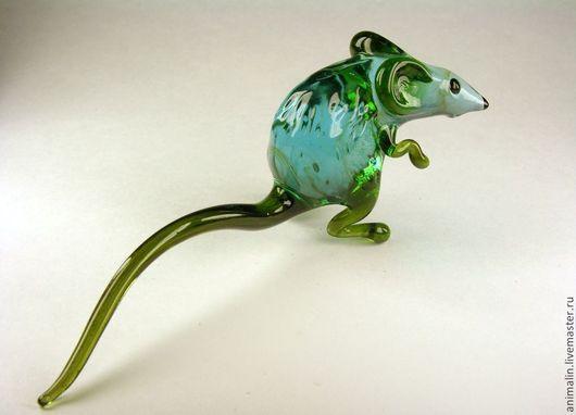 Статуэтки ручной работы. Ярмарка Мастеров - ручная работа. Купить Интерьерная фигурка из стекла  Крыса Карни-Мата. Handmade. мышка