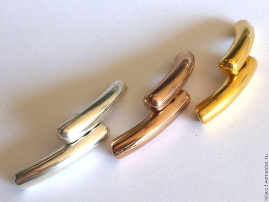 Для украшений ручной работы. Ярмарка Мастеров - ручная работа. Купить Магнитный замок  двухуровневый для браслетов. Handmade. Серебряный, металл