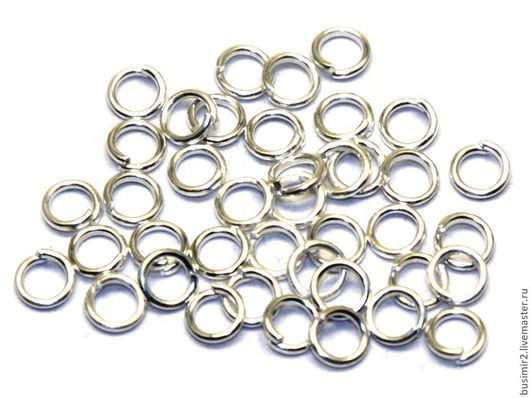 Колечки соединительные разъемные, 3-9 мм, сильверфилд. Фурнитура из серебра для создания украшений. Busimir