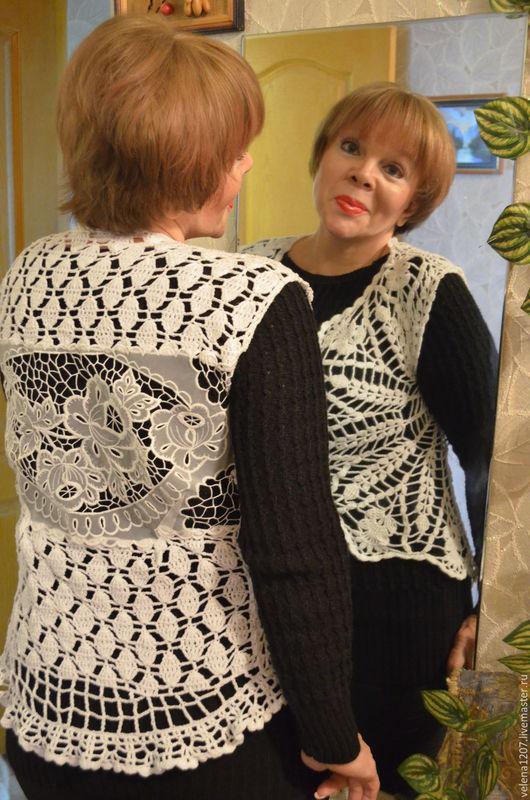"""Кофты и свитера ручной работы. Ярмарка Мастеров - ручная работа. Купить Комплект вязаный """"Эйфория"""". Handmade. Чёрно-белый"""