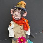 Куклы и игрушки ручной работы. Ярмарка Мастеров - ручная работа игрушка обезьянка ГУГУ. Handmade.