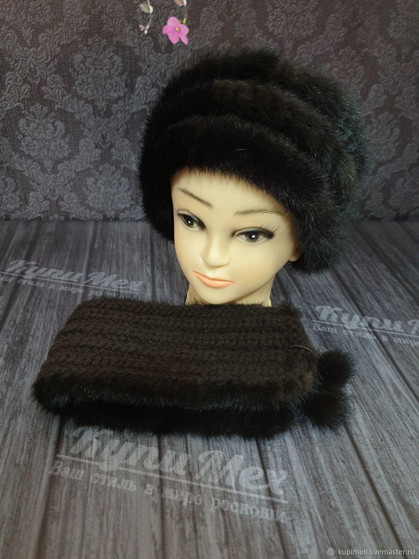 Mink fur headband, Bandage, Nalchik,  Фото №1