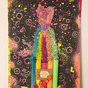 """Картины и панно ручной работы. Ярмарка Мастеров - ручная работа Декоративное панно """"Лаборатория любви"""". Handmade."""