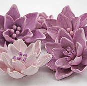 Для дома и интерьера handmade. Livemaster - original item Hibiscus-ceramic furniture handles. Handmade.