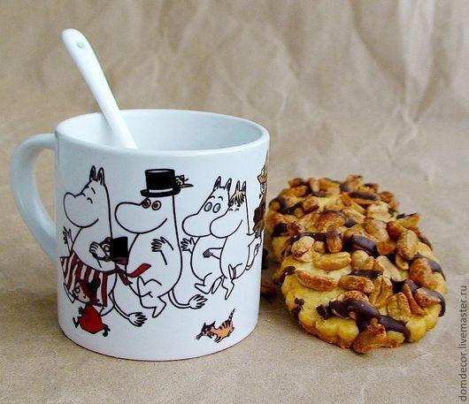 """Кружки и чашки ручной работы. Ярмарка Мастеров - ручная работа. Купить Чашка с ложкой  """"Муми-тролли"""". Handmade. Чашка"""