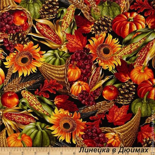 """Шитье ручной работы. Ярмарка Мастеров - ручная работа. Купить Ткань для печворка.(3 вида) """"Осенний Урожай"""". Американский хлопок.. Handmade."""