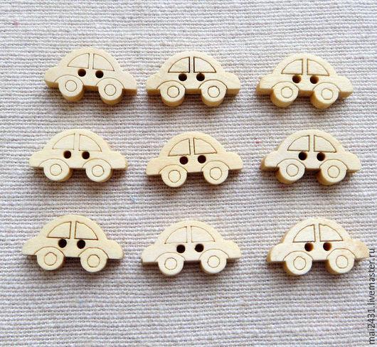 Пуговицы деревянные машинки