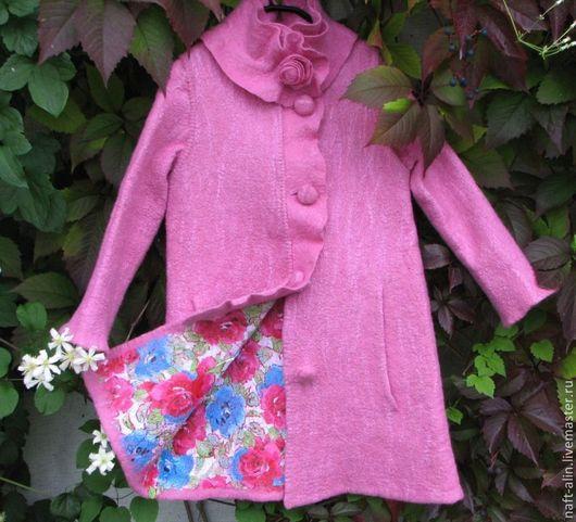 Верхняя одежда ручной работы. Ярмарка Мастеров - ручная работа. Купить Валяное детское пальто. Handmade. Валяное пальто детское