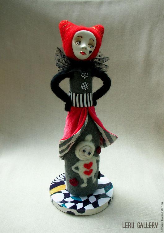 Коллекционные куклы ручной работы. Ярмарка Мастеров - ручная работа. Купить Алиса в стране чудес. Королева Червей. Красная королева. Handmade.