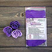 """Глина ручной работы. Ярмарка Мастеров - ручная работа Полимерная глина """"Цветочная"""" Цвет фиолетовый. 25 гр. Handmade."""
