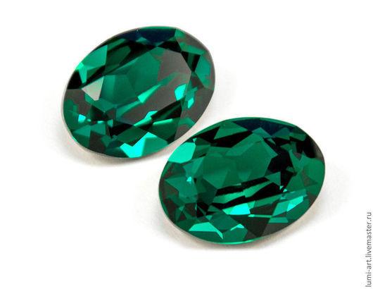 Для украшений ручной работы. Ярмарка Мастеров - ручная работа. Купить Овал 18х13 Emerald Swarovski 205 Кристаллы Сваровски Fancy Stone. Handmade.