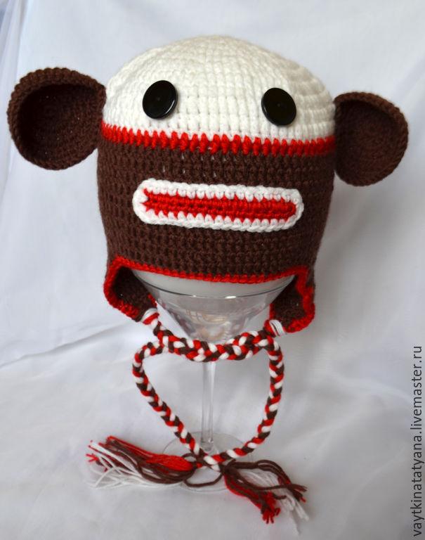Шапка вязаная обезьянка Миши