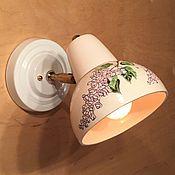 Для дома и интерьера handmade. Livemaster - original item Ceramic lamp (sconce) painted. Handmade.