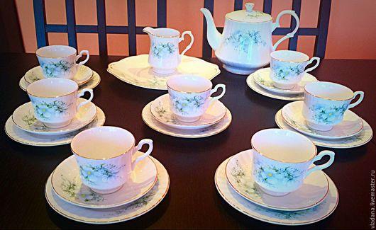 Винтажная посуда. Ярмарка Мастеров - ручная работа. Купить Чайный сервиз Royal Stafford , фарфор, Англия. Handmade. Белый