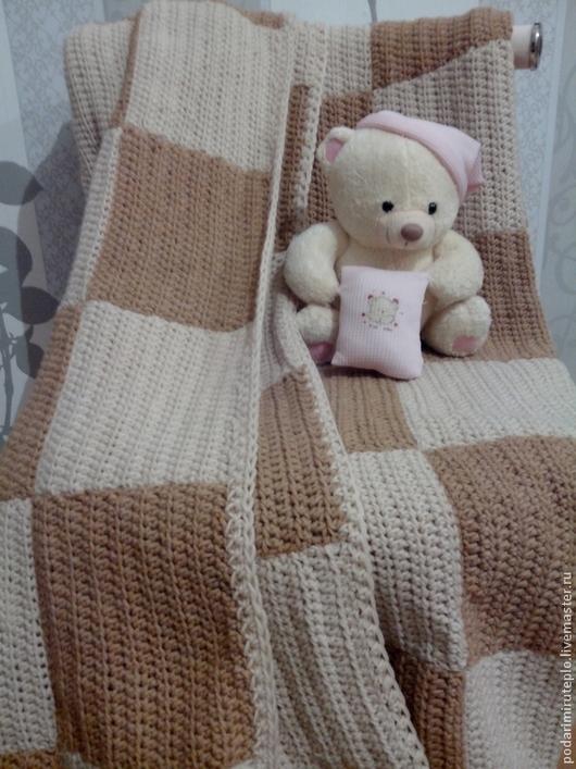 Текстиль, ковры ручной работы. Ярмарка Мастеров - ручная работа. Купить Вязаное одеяло. Handmade. Вязаное одеяло, плед, одеяло