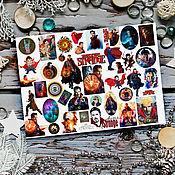 Материалы для творчества handmade. Livemaster - original item Stickers marvel Doctor strange Guardians of the galaxy Deadpool. Handmade.