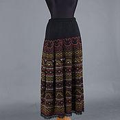 Одежда ручной работы. Ярмарка Мастеров - ручная работа Жаккардовая вязаная юбка. Handmade.