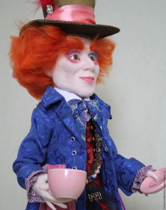 Коллекционные куклы ручной работы. Ярмарка Мастеров - ручная работа. Купить Безумный шляпник 2. Handmade. Шляпник, шерсть 100%