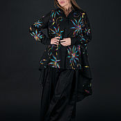 Одежда handmade. Livemaster - original item Elegant women`s suit, blouse and cotton pants-SE0131CT. Handmade.