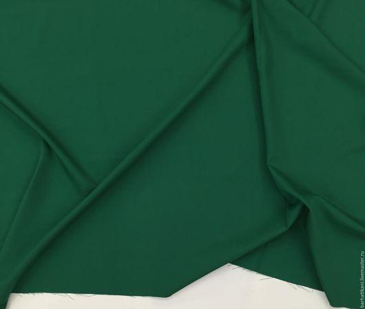 Шитье ручной работы. Ярмарка Мастеров - ручная работа. Купить Итальянская костюмная ткань. Handmade. Тёмно-зелёный