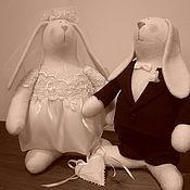 Куклы и игрушки ручной работы. Ярмарка Мастеров - ручная работа Свадебные кролики. Handmade.