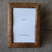 Сувениры и подарки handmade. Livemaster - original item Photo frame made of Karelian birch 10х15. Handmade.