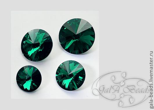 Для украшений ручной работы. Ярмарка Мастеров - ручная работа. Купить Риволи SWAROVSKI код 1122 (12,14,16,18 мм) Emerald. Handmade.