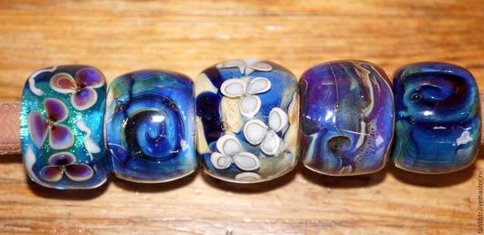 """Для украшений ручной работы. Ярмарка Мастеров - ручная работа. Купить Бусины для regaliz """"Все оттенки синего"""". Handmade."""