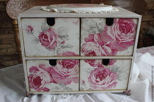 Мини-комоды ручной работы. Ярмарка Мастеров - ручная работа. Купить Аромат розы. Handmade. Бледно-розовый, белый цвет