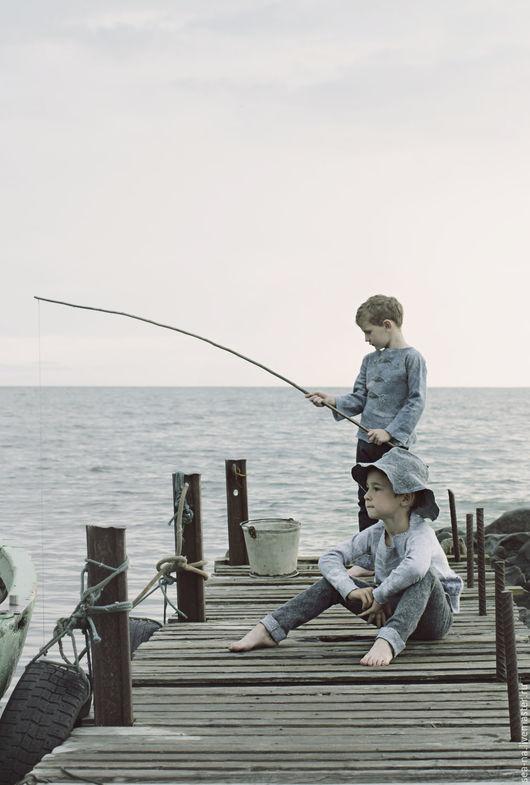 Кофты и свитера ручной работы. Ярмарка Мастеров - ручная работа. Купить Северное море. Handmade. Серый, свитер, детская одежда