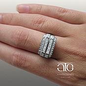Украшения handmade. Livemaster - original item Ring with cubic Zirconia. 925 sterling silver. Handmade.