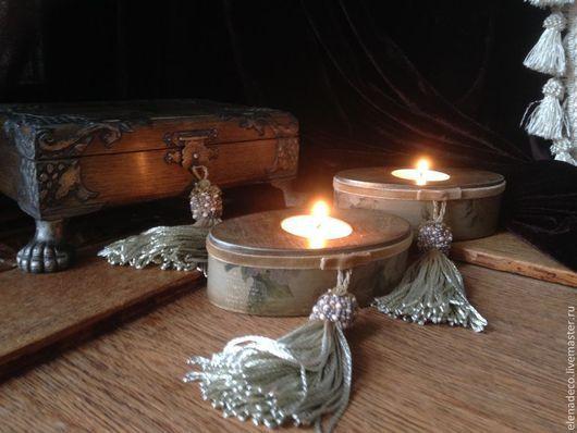 """Шкатулки ручной работы. Ярмарка Мастеров - ручная работа. Купить """"Свеча горела на столе....."""" Интерьерный набор. Handmade. Набор"""