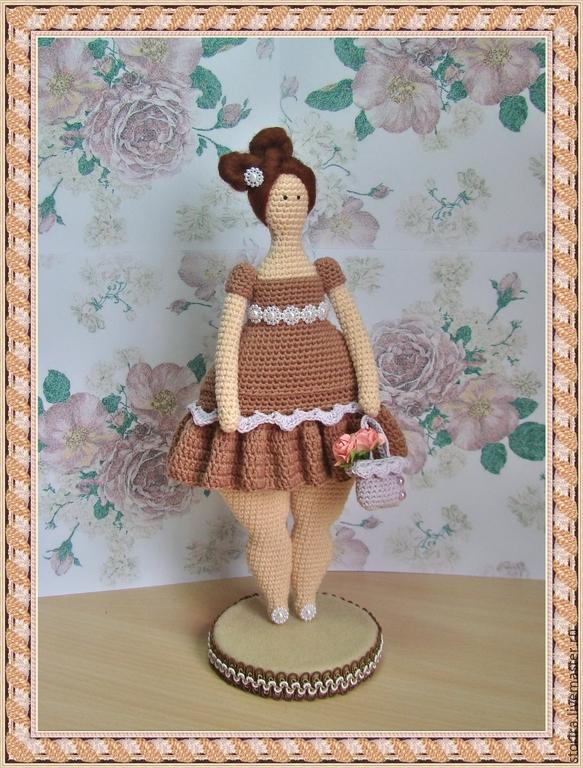 """Купить Мастер-класс вязаная кукла крючком """"Тильда-толстушка"""" - разноцветный, мастер-класс по вязанию"""