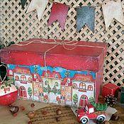 Для дома и интерьера ручной работы. Ярмарка Мастеров - ручная работа Короб для елочных игрушек - Сказка в дом приходит.... Handmade.