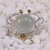 Украшения handmade. Livemaster - original item Silver brooch with prenite.. Handmade.