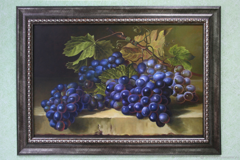 """Картина маслом """"Черный виноград"""", Картины, Днепр,  Фото №1"""