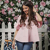 Одежда handmade. Livemaster - original item Powdery pink blouse with ruffles.. Handmade.