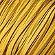 Для украшений ручной работы. Ярмарка Мастеров - ручная работа. Купить Шнур 3 мм, (арт.з4) искусственная замша, цвет желтый. Handmade.