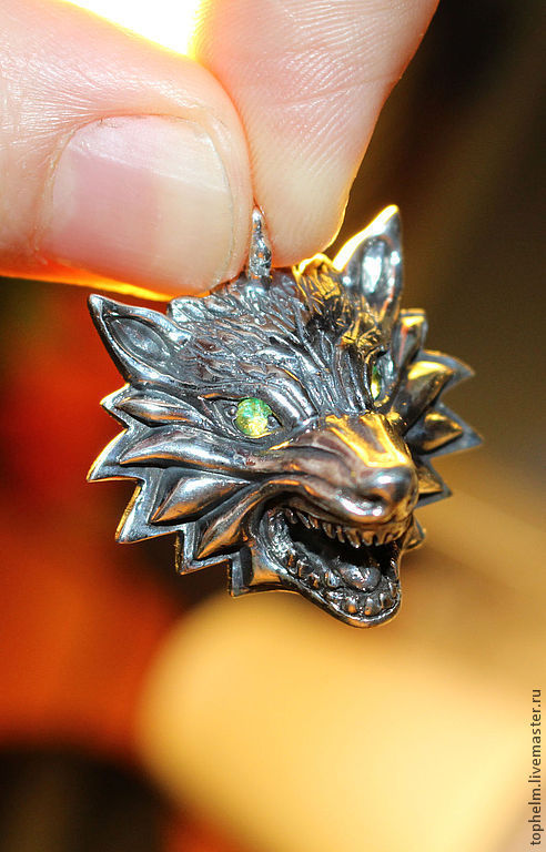 Кулоны, подвески ручной работы. Ярмарка Мастеров - ручная работа. Купить Кулон Witcher Wolf. Handmade. Волк, witcher, game