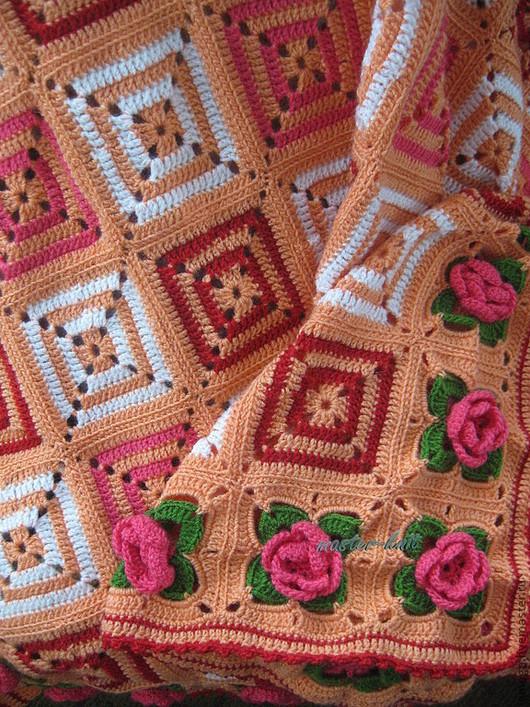 Пледы и одеяла ручной работы. Ярмарка Мастеров - ручная работа. Купить Плед детский - 1. Handmade. Оранжевый, подарок для девочки