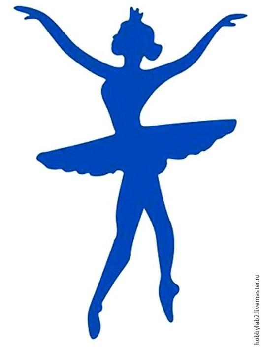 """Открытки и скрапбукинг ручной работы. Ярмарка Мастеров - ручная работа. Купить Форма для вырубки """"Балерина №2"""" 1 шт.. Handmade."""