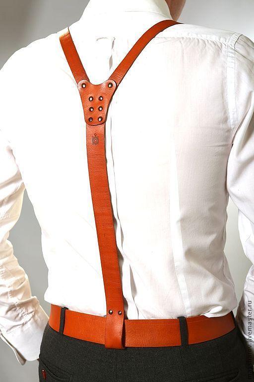 Мужские сумки ручной работы. Ярмарка Мастеров - ручная работа. Купить Подтяжки кожаные рыжие (портупея) Макс Шаров art № 073. Handmade.