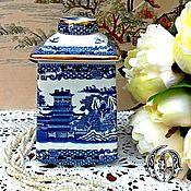 Винтаж ручной работы. Ярмарка Мастеров - ручная работа Old Willow Чайная Баночка Ringtons Англия. Handmade.