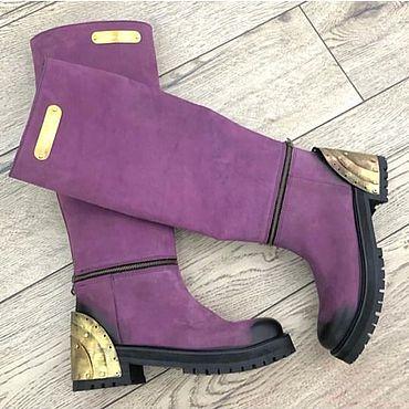Обувь ручной работы. Ярмарка Мастеров - ручная работа Сапоги: Женская обувь ручной работы. Handmade.