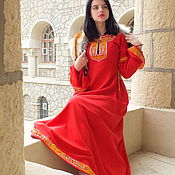 Русский стиль handmade. Livemaster - original item Woman medieval dress Yaroslava; medieval embroidery dress; Elven dress. Handmade.