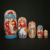 Русский стиль handmade. Livemaster - original item Nesting doll The Tale of Peter Rabbit. Handmade.