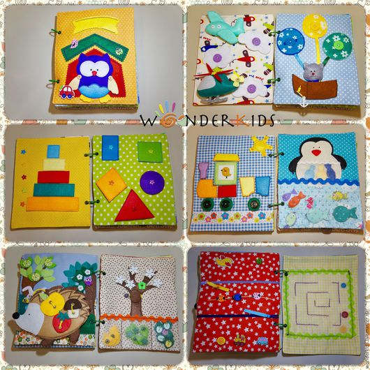 Развивающие игрушки ручной работы. Ярмарка Мастеров - ручная работа. Купить Развивающая книга из фетра и ткани для детей от 1 до 4 лет. Quiet Book. Handmade.