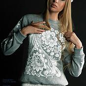 Одежда ручной работы. Ярмарка Мастеров - ручная работа Свитшот из коллекции RUSiberia (3). Handmade.