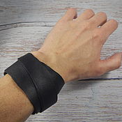 Украшения handmade. Livemaster - original item Long Leather Bracelet Winding Wavy. Handmade.